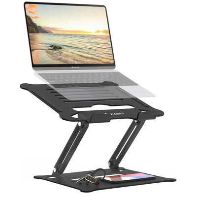 """Aluminum Laptop Stand Ergonomic Height Angle Adjustable Portable Laptop Riser,Compatible With Macbook, Air, Pro, Dell, HP, Lenovo, Up To 17.3"""""""" ,Black -  Alex Smart Home, J-HO-AI-002-Z19-02#ZLWF1"""