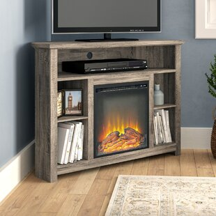 Senecaville Corner TV Stand for TVs up to 48 with Electric Fireplace