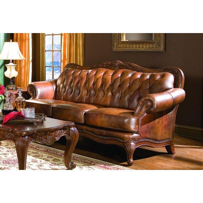 Chretien Leather Sofa