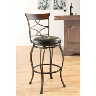 Basalt Swivel Bar Stool (Set of 2) Fleur De Lis Living