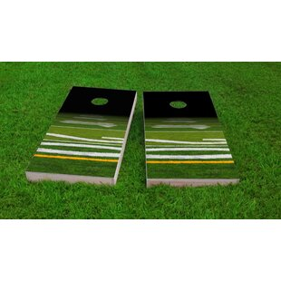 Custom Cornhole Boards Football Field Light Weight Cornhole Game Set