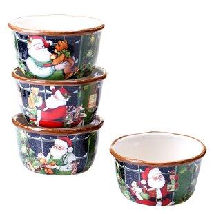 Santa's Workshop Ice Cream Bowl (Set of 4)