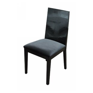 Norvell Fabric Side Chair in Black Set of 2