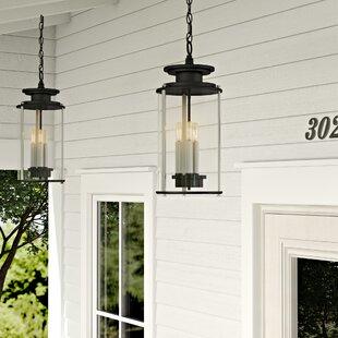 17 Stories Evgenia 3-Light Outdoor Hanging Lantern
