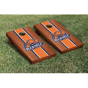 Victory Tailgate NCAA Rosewood Stained Wooden Cornhole Game Set
