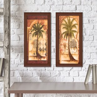 U0027Tuscan Palm Iu0027 2 Piece Framed Print Set