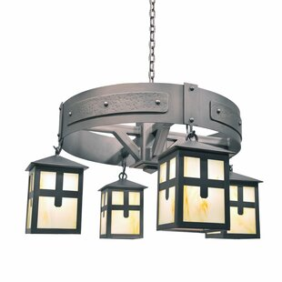 Steel Partners Mckinley 4-Light Shaded Chandelier