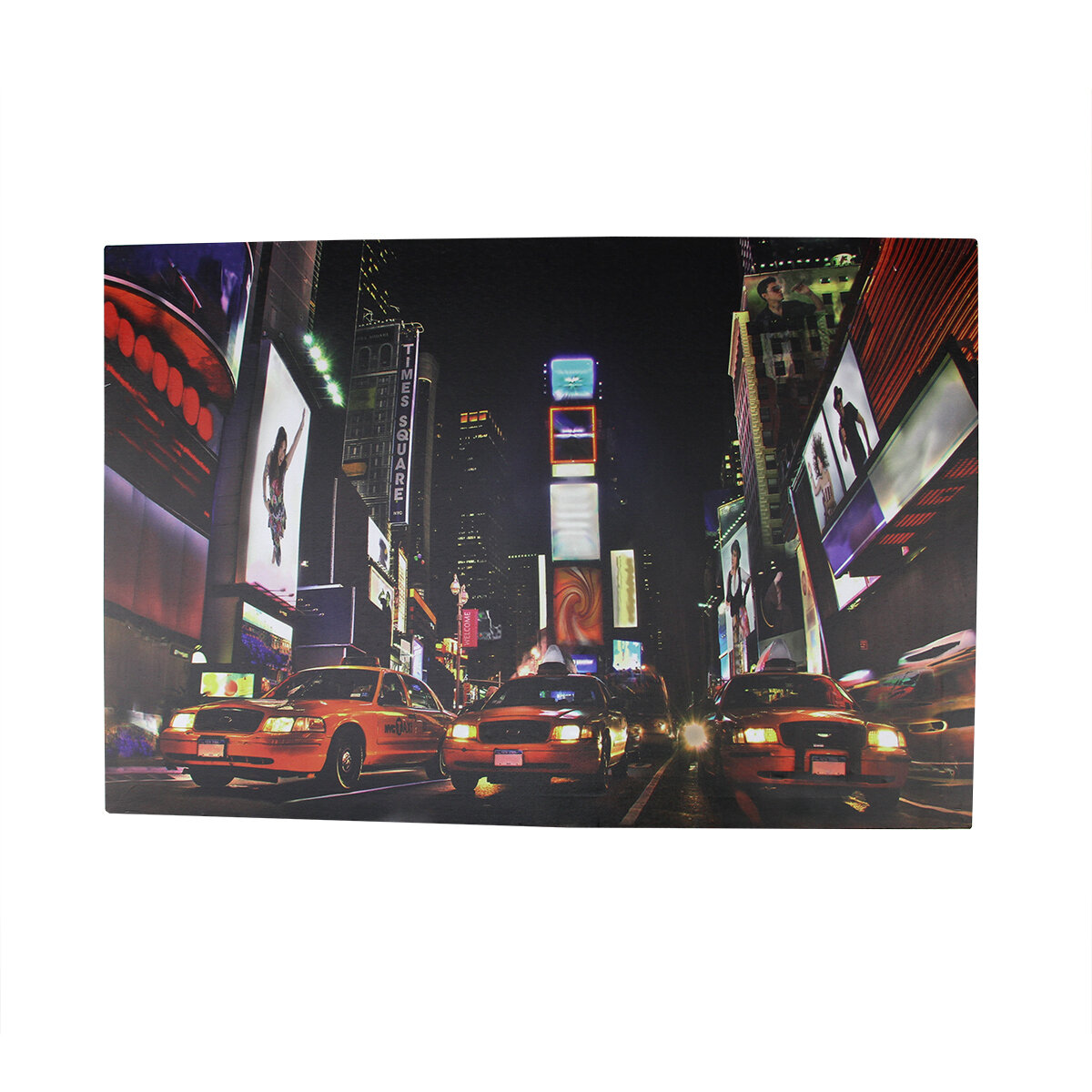 Northlight Battery Operated 8 Led Nyc Broadway Time Square Photographic Print On Canvas Wayfair