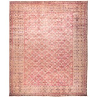 Look for Dexter Hand-Knotted 147 x 177 Wool Pink Area Rug By Isabelline