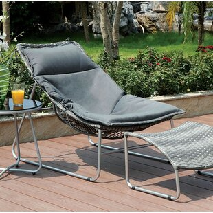 Latitude Run Bastien Patio Chair with Cus..