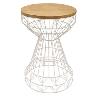 Ivy Bronx Gately Metal and Wood End Table