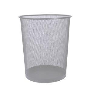 Home Basics Mesh Steel Waste Basket