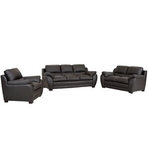 Carte Leather 3 Piece Living Room Set by Latitude Run
