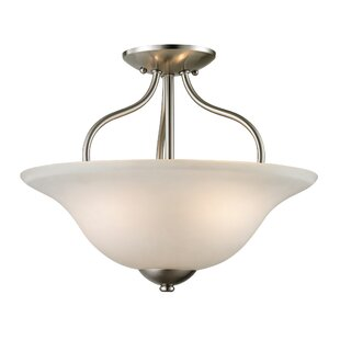 Follett 2-Light Semi Flush Mount by Winston Porter