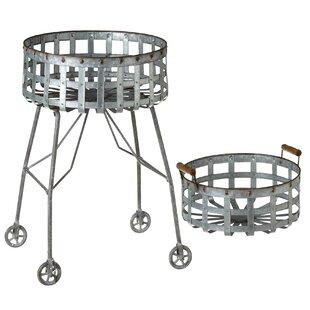 Gracie Oaks Haddon Cart Laundry Basket Set