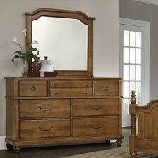 Hedlund 7 Drawer Dresser with Mirror by Darby Home Co