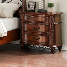 Tuscany 3 Drawer Nightstand by Fairfax Home Collections