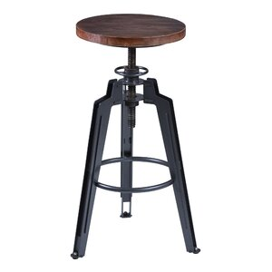 Cosmia Adjustable Height Swivel Bar Stool 17 Stories