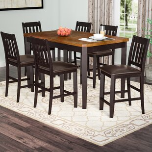 Andover Mills Chandlerville 7 Piece Counter Height Dining Set