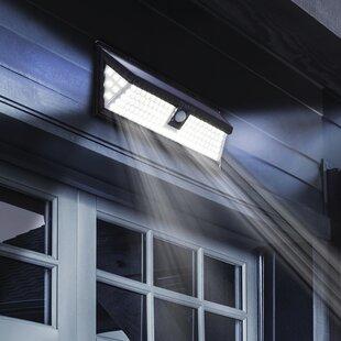 Feldt Black Solar Powered LED Outdoor Work Light By Sol 72 Outdoor