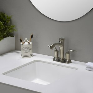 Elavo Ceramic Square Undermount Bathroom Sink With Overflow