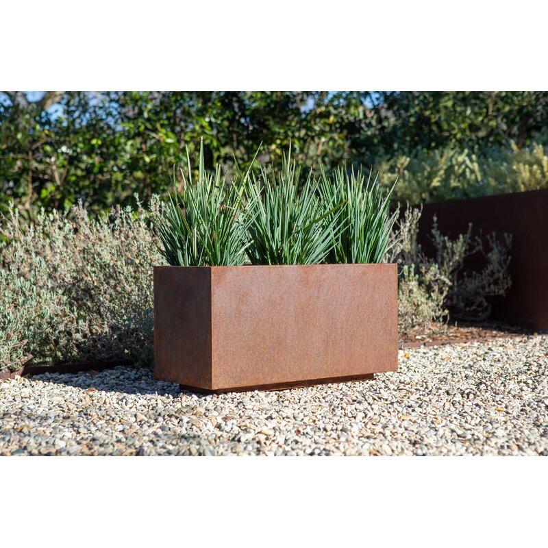 Metallic Series Corten Steel Planter Box Allmodern