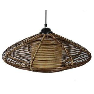 Bay Isle Home Derby Rattan 1-Light LED Outdoor Hanging Lantern