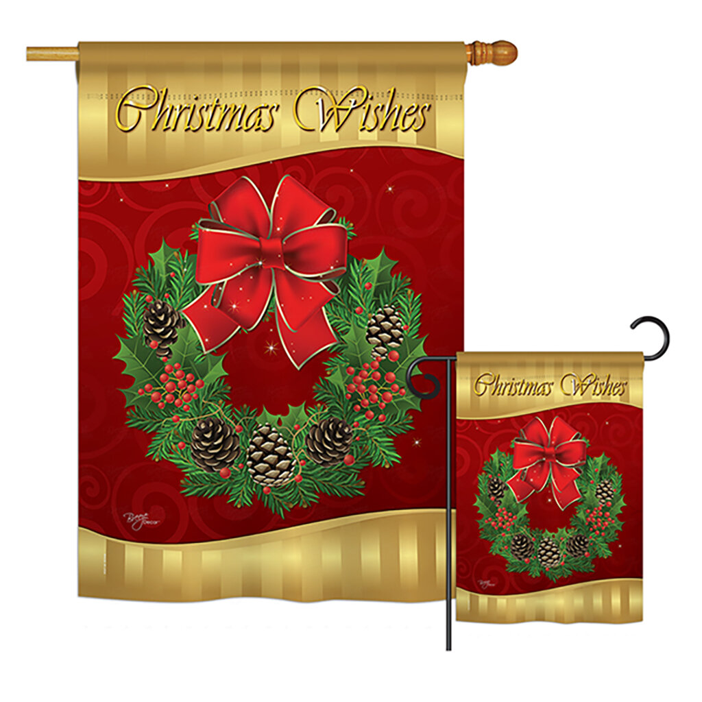 Breeze Decor Christmas Wishes Winter Christmas Impressions 2 Sided Polyester 40 X 28 In Flag Set Wayfair