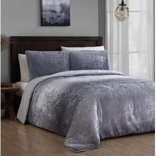 velvet comforter set king King Velvet Bedding   Wayfair velvet comforter set king