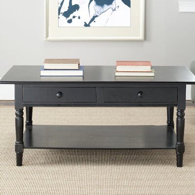 Boris Coffee Table Color: Distressed Black by Andover Mills