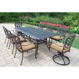 Bosch Upholstered 9 Piece Dining Set with Cushions by Darby Home Co