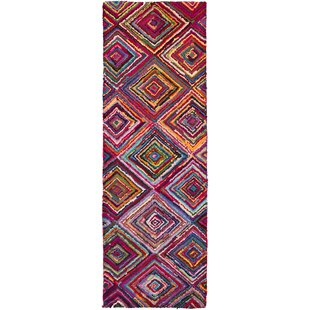 Tousana Handmade Magenta Area Rug by Bungalow Rose