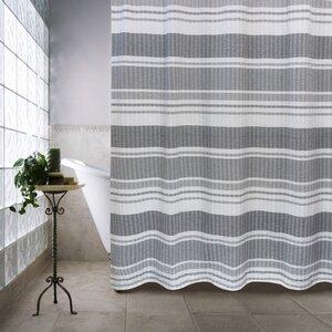Metro Farmhouse Cotton Seersucker Bands Shower Curtain