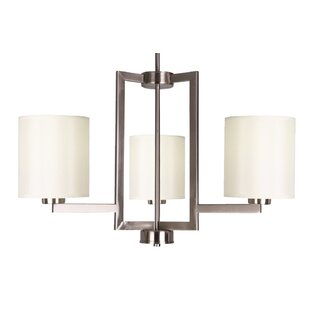 Falcon 3-Light Shaded Chandelier by Whitfield Lighting