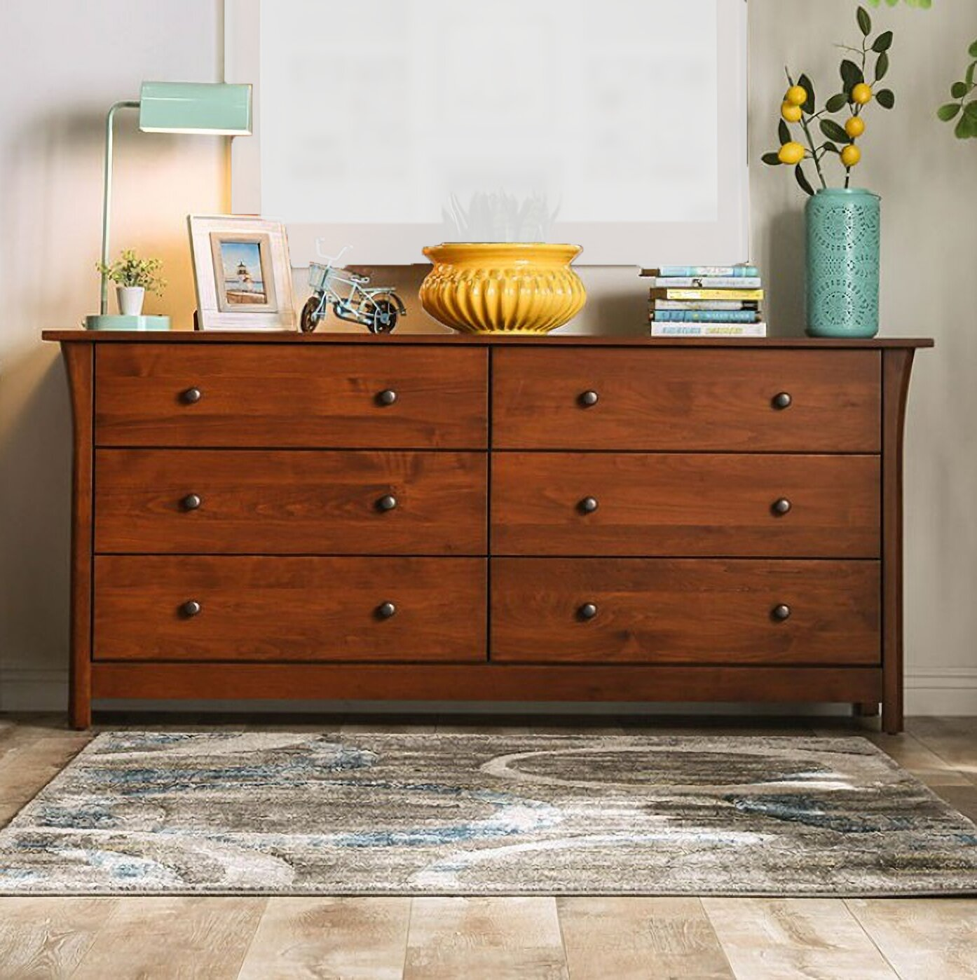 Cozzy Design Hooz 6 Drawer Double Dresser Wayfair