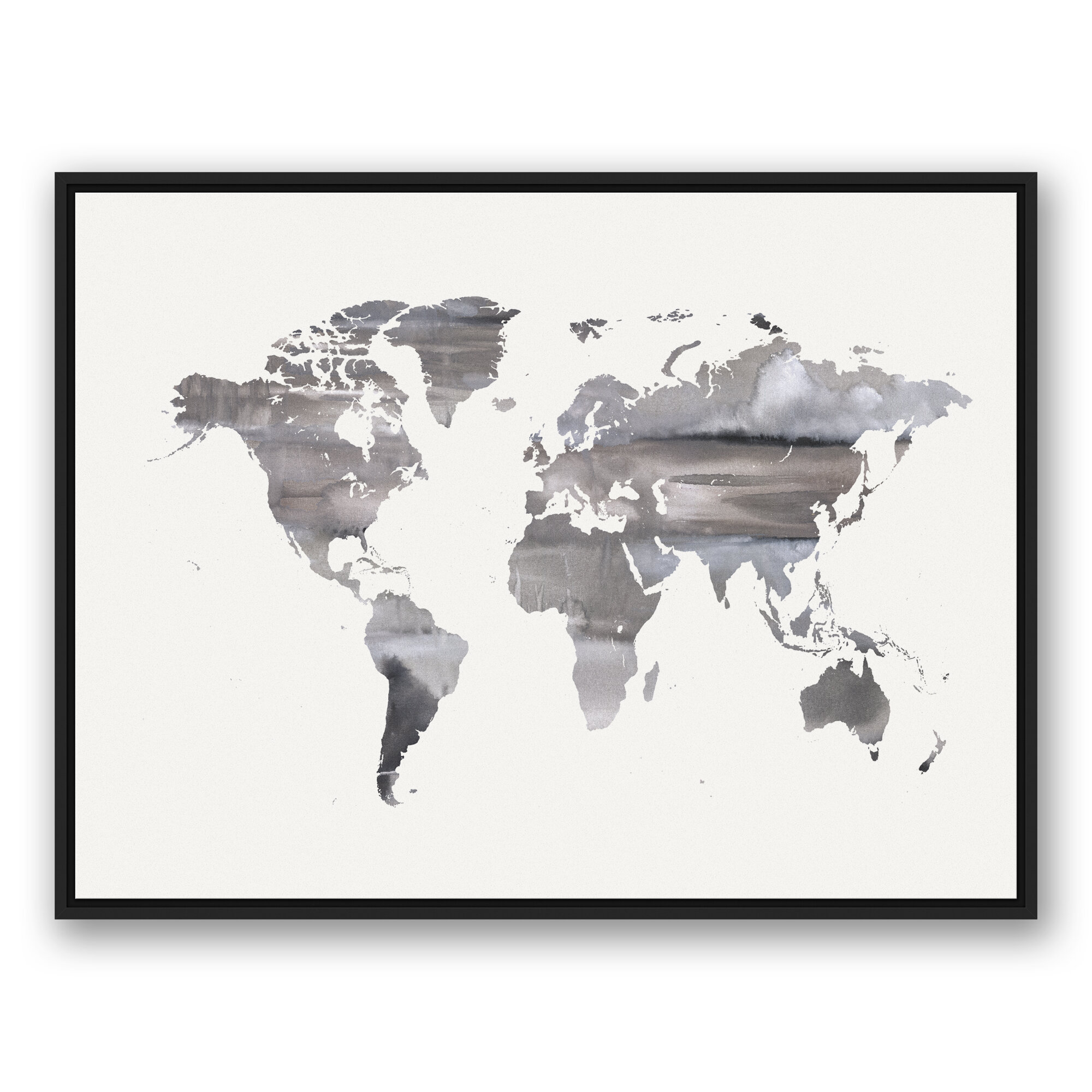 Brayden studio white world map framed watercolor painting print on canvas wayfair brayden studio white world map framed watercolor painting print on canvas wayfair gumiabroncs Choice Image