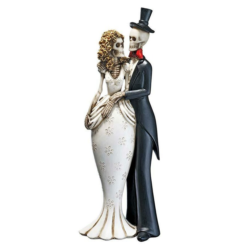 Design Toscano Day of the Dead Skeleton Bride and Groom Statue