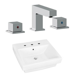 Buy luxury Above Counter Ceramic Rectangular Vessel Bathroom Sink with Faucet and Overflow ByRoyal Purple Bath Kitchen