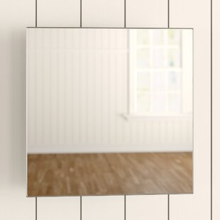 Fife 45cm X 45cm Surface Mount Flat Mirror Cabinet By Croydex