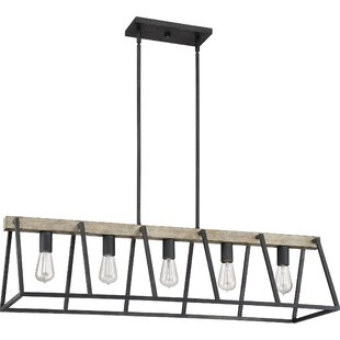 Best Reviews Dillman 5-Light Kitchen Island Pendant By Williston Forge