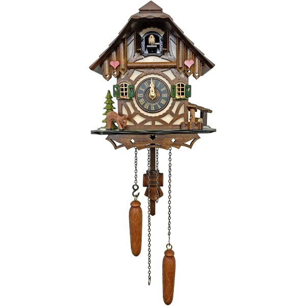 Loon Peak Battery Operated Hearts Cuckoo Wall Clock Wayfair