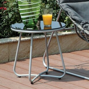 Draco Aluminum Side Table by Ebern Designs Today Only Sale