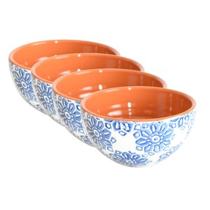 Elaina Hand-Painted Cereal Bowl Set (Set of 4)