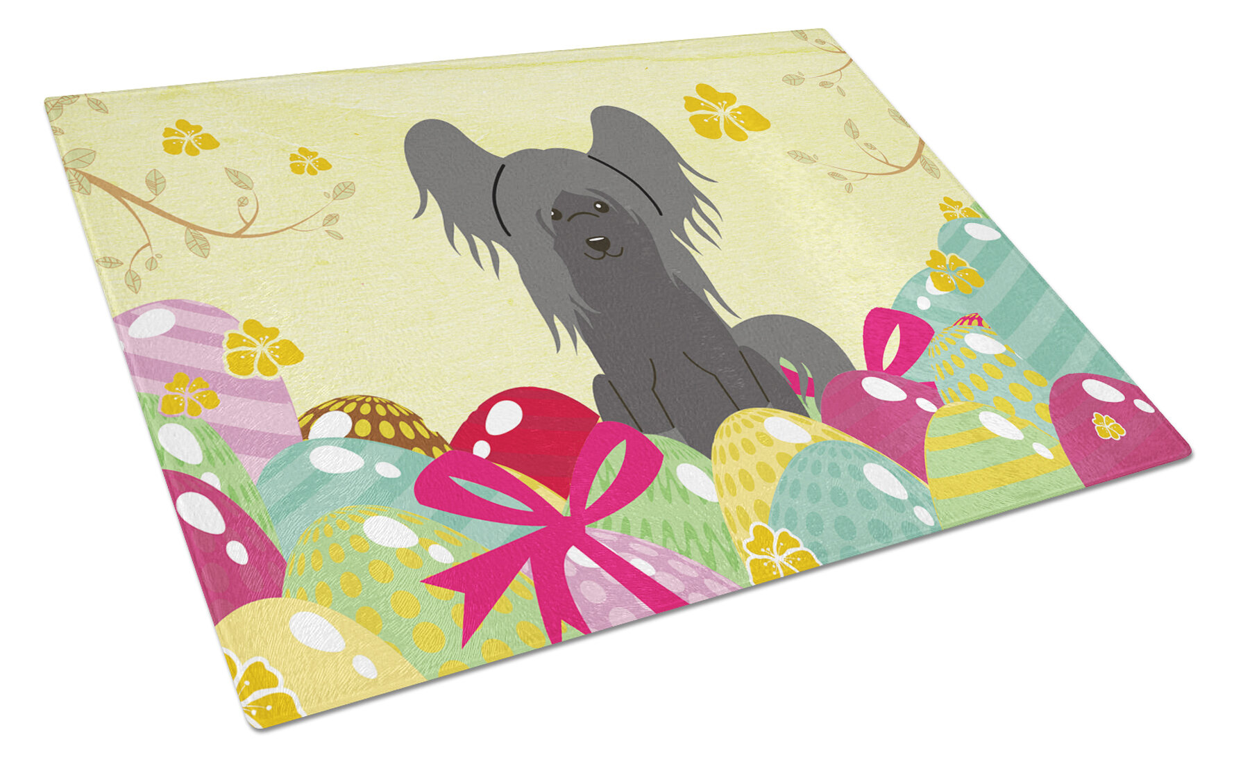 The Holiday Aisle Saroyan Glass Chinese Crested Cutting Board