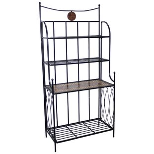 Fleur De Lis Living Boulder Brook Wrought Iron Baker's Rack