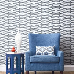 Keomi Diamond Geometric 18 L X 20 5 W And Stick Wallpaper Roll