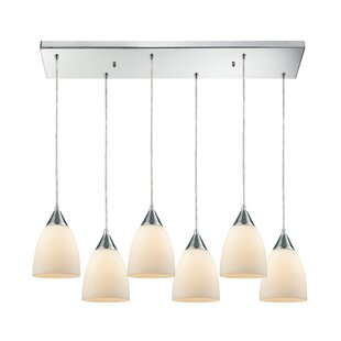 Mcbride Rectangle 6-Light Cluster Pendant by Latitude Run