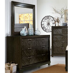 Gracie Oaks Vachel 6 Drawer Double Dresser with Mirror Image