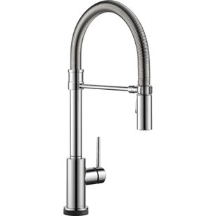Review Trinsic Pro Pull Down Touch Single Handle Kitchen Faucet with and MagnaTite® Docking and Touch2O® Technology by Delta
