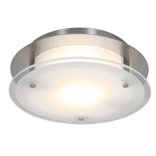 Latitude Run Patten 1-Light Outdoor Flush Mount